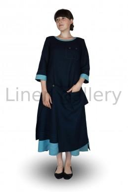 """Сукня  """"Фелічіта"""", синій   0064/46/1606[2256]   0064.jpg[27]"""