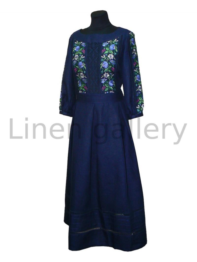 """Сукня """"Роксолана"""", темно-синій   0684/40/359[7527]   0684-359.jpg[232]"""