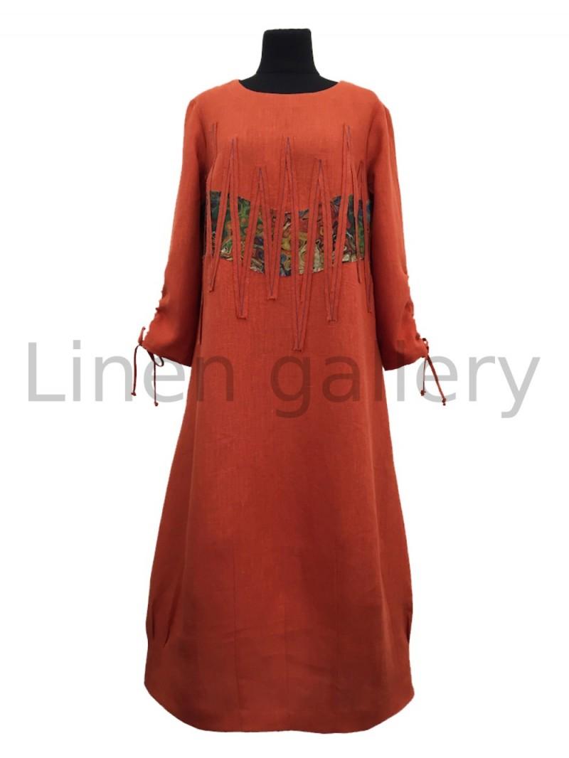 """Сукня  """"Фентезі"""", жовтогарячий   0981/46/1194[7615]   0981-1194.jpg[235]"""