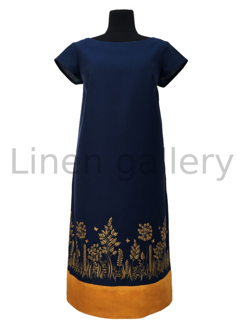 """Сукня """"Ляна"""", темно-синій   0034/46/1367[7752]   0034-1367.jpg[232]"""