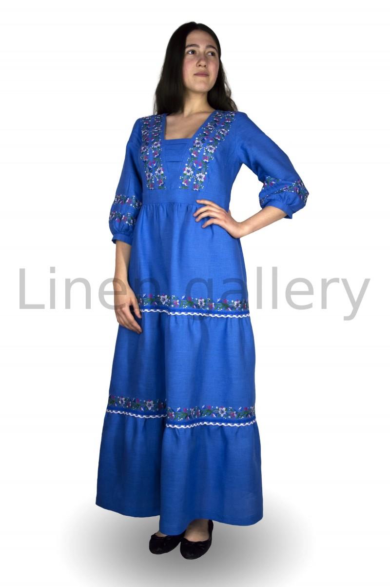 """Сукня """"Яблуниця"""", синій   0046/40/1370[8050]   0046.jpg[13]"""